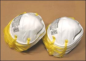 Type N95 NIOSH Approved Respirator Masks